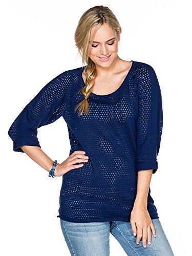 sheego Casual Jersey de punto tallas grandes nueva colección Mujer azul oscuro