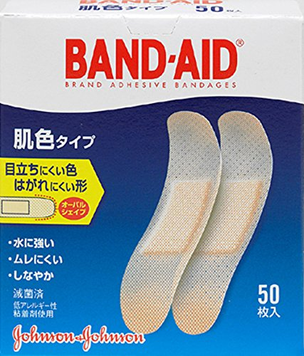 BAND-AID(バンドエイド) 救急絆創膏 肌色タイプ スタンダードサイズ 50枚の商品画像