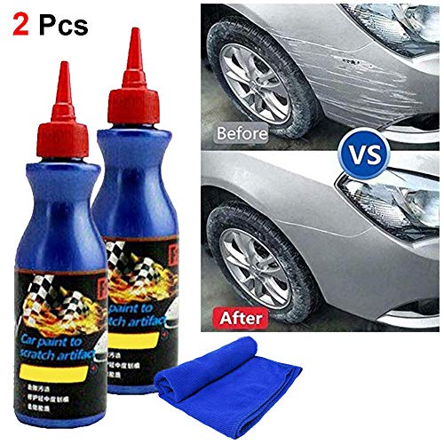 FEBSNOW One Glide Scratch Remover - Car Artifact Light Scratch Repair Wax Universal Auto Car Paint Dent Care Pen Polishing Repair Agents for Various Cars (2 Pack)