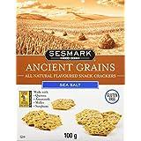 Sesmark Foods Ancient Grains Crackers, Sea Salt, 100 g