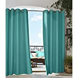 Cheap Commonwealth Outdoor Decor Gazebo 108″ Grommet Curtain Panel in Aqua