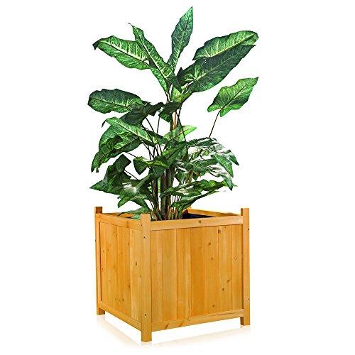 Garten Blumenkübel / Pflanzkasten aus Holz 50 cm x 50 cm x 50 cm ...
