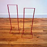 2 - Red Double Round Strip Potato Chip, Candy Clip Counter Display Racks