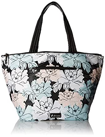 Sakroots Kota Reversible City Tote, Black Peony
