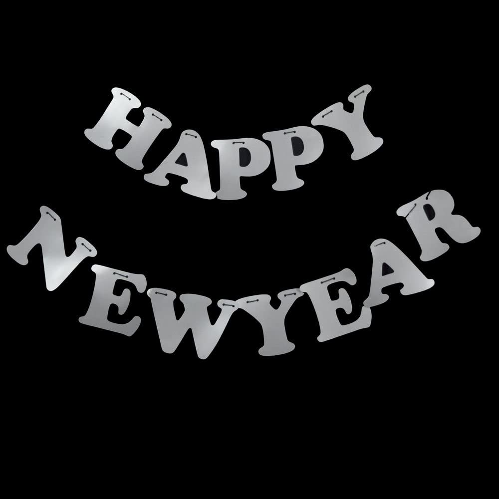 10FT Happy New Year/'s Eve Party Paper Letter Pennant Banner