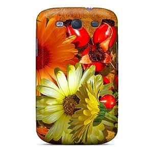 Cute High Quality Galaxy S3 Falls Fantastic Flowers Case