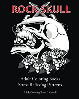 Amazoncom Horror Skulls Coloring Book for Adults 9781518649639