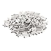 uxcell® 300Pcs BV-2 Uninsulated Butt Connectors Terminal for 16-14 A.W.G Wire