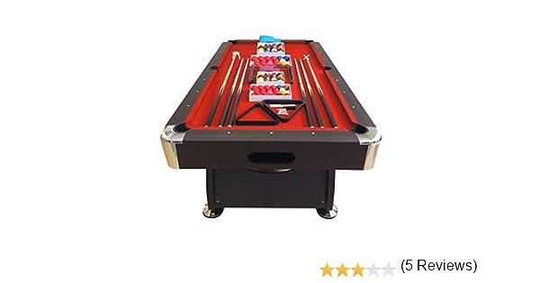GRAFICA MA.RO SRL Mesa de Billar Juegos de Billar Pool 8 ft Modelo Vintage Rojo Carambola Medición de 220 x 110 cm Nuevo EMBALADO: Amazon.es: Deportes y aire libre