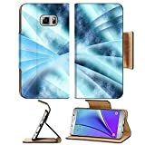Luxlady Premium Samsung Galaxy Note 5 Flip Pu Leather Wallet Case Note5 IMAGE 19863052 Digital abstract shapes glowing in blue tones