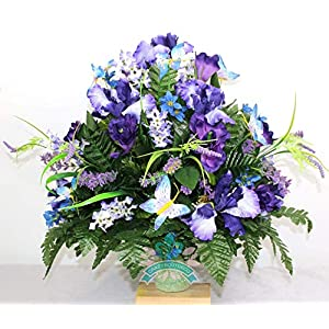 Beautiful XL Spring Mixture Cemetery Flowers for a 3 Inch Vase 58