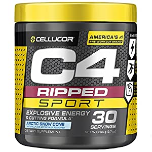 Cellucor-C4-Ripped-Sport-Pre-Workout-Powder-Thermogenic-Fat-Burner-Fat-Burners-for-Men-Women-Weight-Loss-Energy-Arctic-Snow-Cone-30-Servings-NSF-Certified-for-Sport