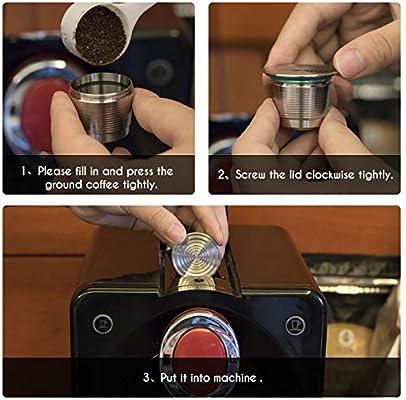 Sunsbell Cápsula Metálica de Acero Inoxidable - Café Nespresso ...