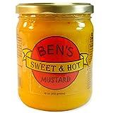 Ben's Sweet & Hot Mustard   All Natural, No Preservatives   Award Winning Mustard   16 oz. Jar