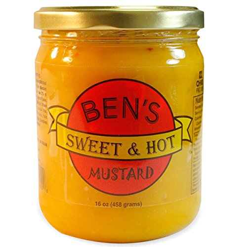 Ben's Sweet & Hot Mustard | All Natural, No Preservatives | Award Winning Mustard | 16 oz. Jar