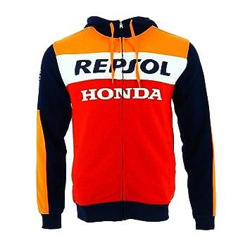 HONDA Repsol Moto GP Team Marquez, Pedrosa Large Logo Capucha Oficial Nuovo