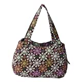 Quilted Cotton Handle Bags Shoulder Bag (Coffee Floral)