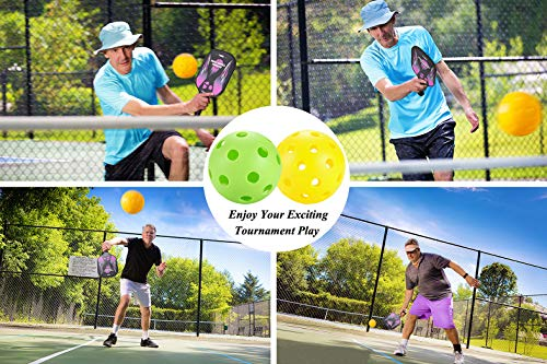 TQVAI Outdoor Pickleball Balls Specifically Designed Approved for Tournament Play, Professional Performance