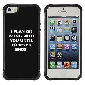 Suave TPU GEL Carcasa Funda Silicona Blando Estuche Caso de protección (para) Apple Iphone 5 / 5S / CECELL Phone case / / being with you love black white inspiring /