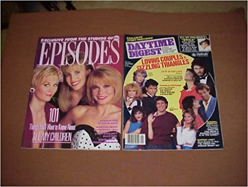Episodes Magazine ABC Studios All My Children Karen Witter David Wallace Susan Keith Joannie L Berg Amazon Books