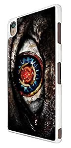 888 - Scary Evil Eye Darkness Design For Sony Xperia Z2 Fashion Trend CASE Back COVER Plastic&Thin Metal
