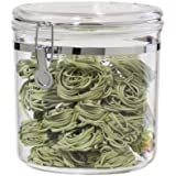 Oggi Jumbo Acrylic Airtight Canister with Clamp, 130-Ounce