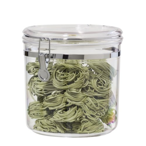 Oggi Jumbo Acrylic Airtight Canister with Clamp, 150-Ounce (5344)
