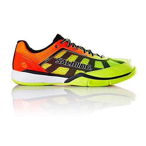 Salming Viper 4Junior Zapatillas de balonmano–Yellow/naranja