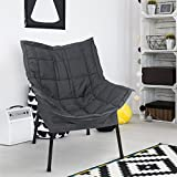 Casual Home 271-02/032-15 Milano Metal Chair, Black Frame with Black Premium Seating