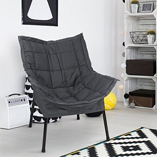 Casual Home 271-02/032-15 Milano Metal Chair, Black Frame...