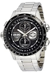 Hamilton Aviation Khaki X-Wind Black Dial Stainless Steel Mens Watch H77766131
