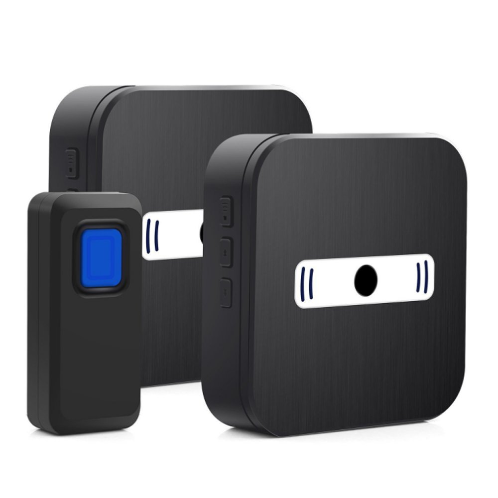 MUTANG Wireless Doorbell Waterproof Wall Plug-in Cordless Door Chime Kit 1000ft Range Electric Doorbell Adjustable Volume LED Flash
