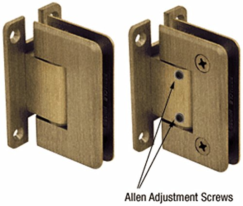Crl Antique Brass Cologne - C.R. LAURENCE C0L337ABR CRL Antique Brass Cologne 337 Series Adjustable Wall Mount Full Back Plate H