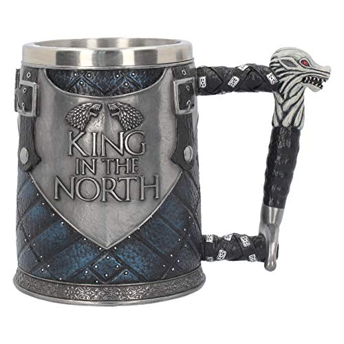Nemesis Now Ltd King in the North Tankard Game of Thrones Mug, 20 Centimeter, Blue (The King In The North Game Of Thrones)
