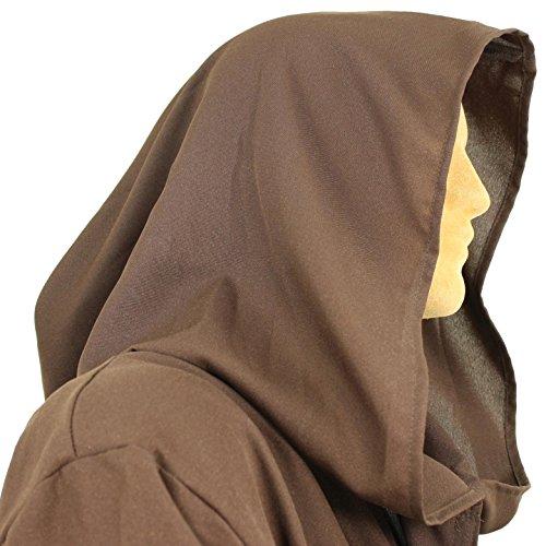 Men's Jedi Sith Robe Cloak Costume Adult Brown Black (L/XL (60 (Dark Jedi Costume)