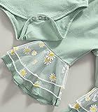 3 Pcs Daisy Pattern Outfits Baby Girls Mesh