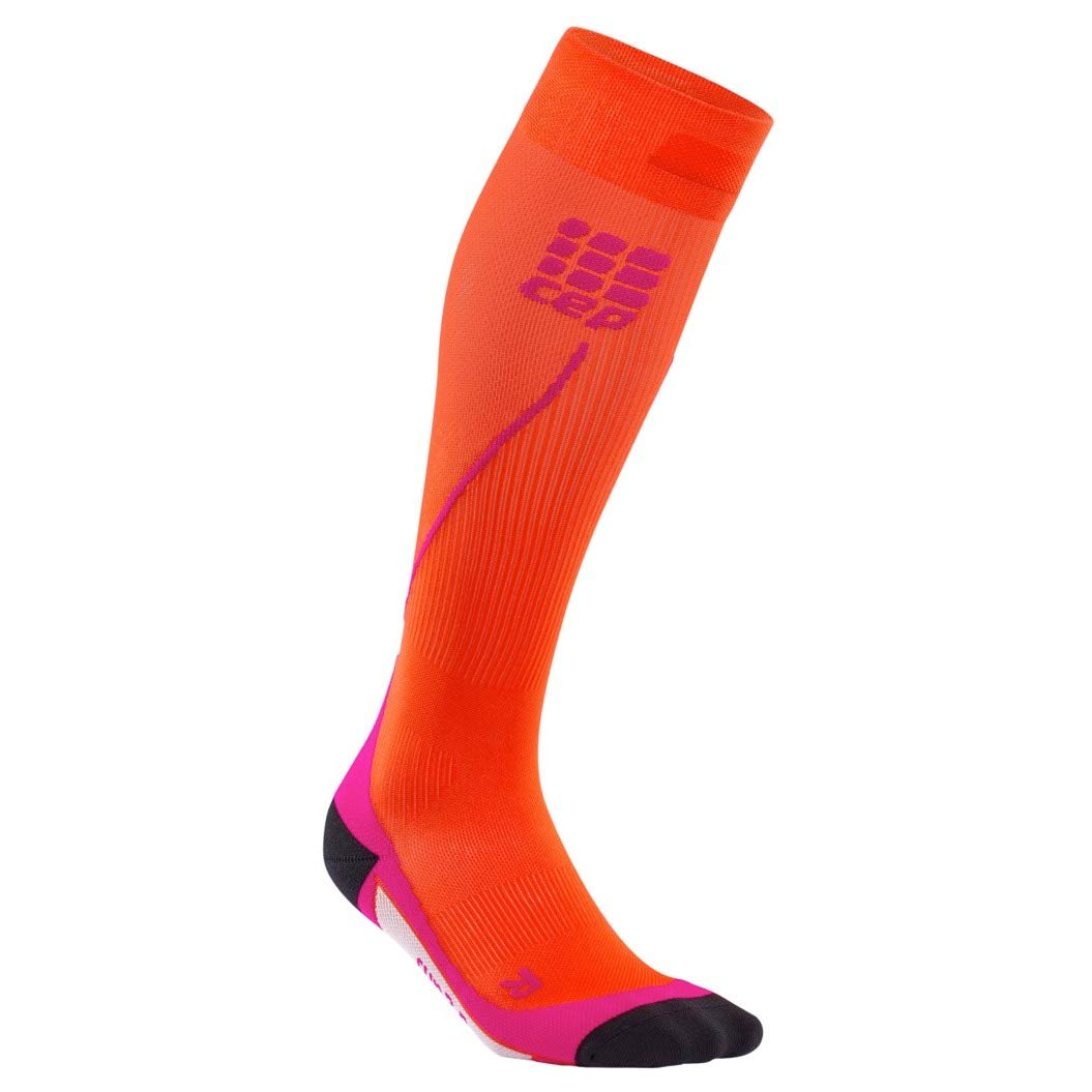 Womens Running Compression Socks - CEP Long 2.0 (Sunset/Pink) II by CEP (Image #2)