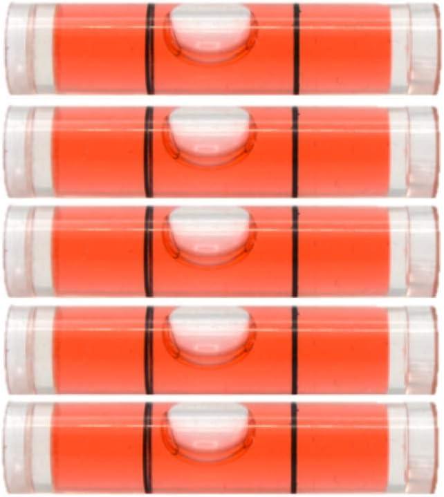 8mm x 35mm Color Mini Spirit Level Bubble Spirit Level Round Level Frame 1, Red