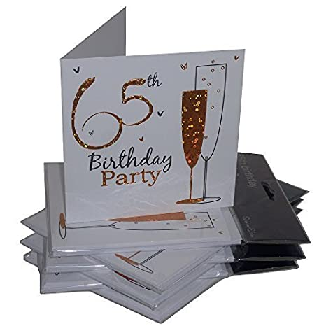 65th Birthday Party Invitations 36 Multipack Cards With Envelopes By Simon Elvin Amazoncouk Kitchen Home