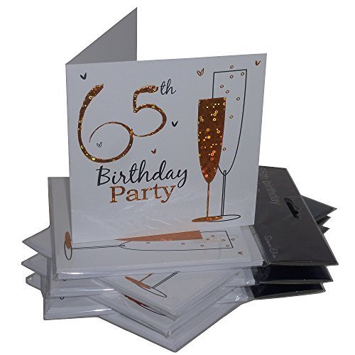 65th Birthday Party Invitations {Holographic} 36 Multipack