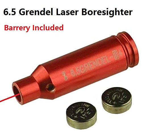 FieldSport 6.5 Grendel Laser Bore Sighter Boresighter for AR15 Grendel, Auuminum Red Finish