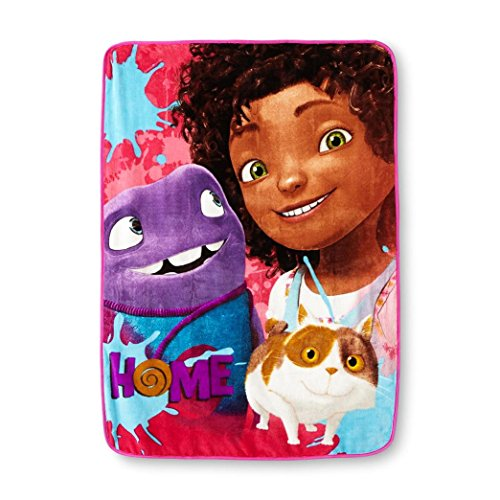 Northwest DreamWorks Home, Home Away Micro Raschel Throw Blanket by The Company, 46 by -