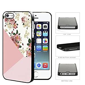 Vintage Pink Roses And Daisies Hard Plastic Snap On Cell Phone Case Apple iPhone 5 5s