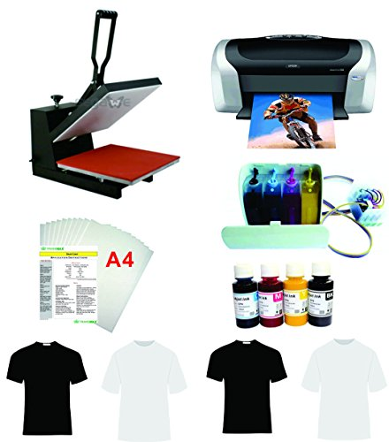 15x15'' Flat Heat Press A4 Epson Printer Paper Ink CISS Start-up KIT T-shirts by TRANSGERWORLD (Image #9)