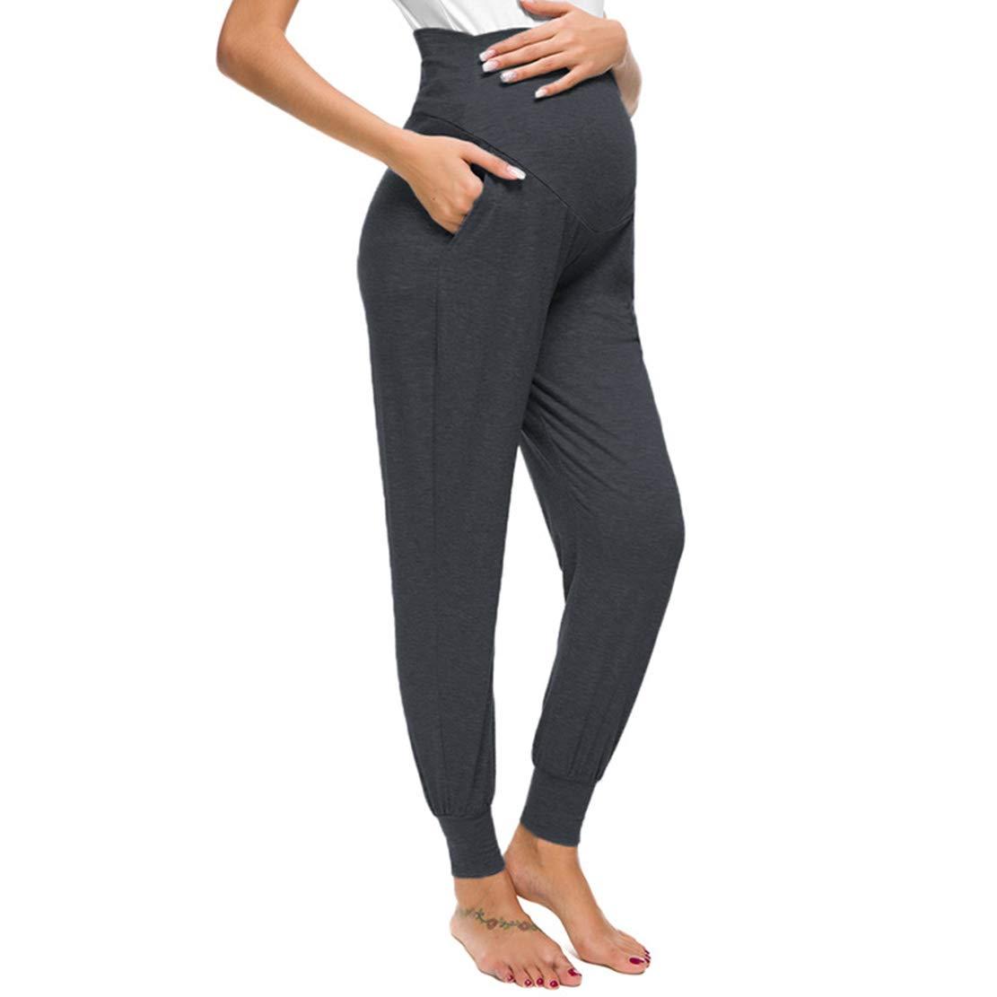 Pantalones Premama Verano Leggins Embarazada Mujer Casual Maternidad Leggings Ajustable Prenatal Embarazo Pantalon