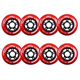 Rollerex 8-pack Inline Skate/Rollerblade Wheels VXT500 80mm (8 Wheels)