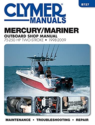 mercury mariner 75 250 hp two stroke 1998 2009 outboard shop manual rh amazon com 2018 75 HP Mariner 1989 Mariner 75 HP