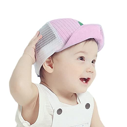 6bfedb3fa57a7 chinatera Baby Boys Girls Baseball Cap Pink Trucker Mesh Adjustable Sun Hat