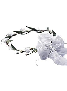 Couronne De Fleur Blanche Avec Fleuille De Laurier Pour Mariage