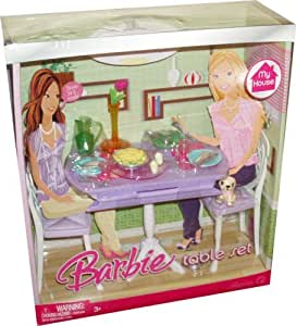 Amazon Com Barbie My House Accessories Set Dining Room